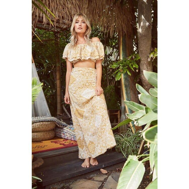 Dream Maxi Skirt | Mustard